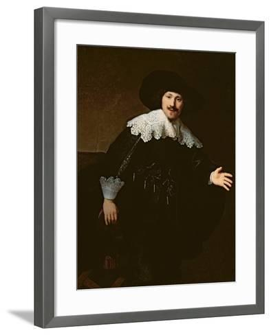 Portrait of a Seated Man Rising from His Chair, 1633-Rembrandt van Rijn-Framed Art Print