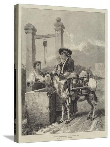 Alhambra Water-Carrier-Richard Ansdell-Stretched Canvas Print
