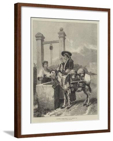 Alhambra Water-Carrier-Richard Ansdell-Framed Art Print