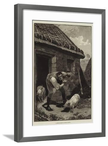 A Private Shave in County Galway-Richard Caton Woodville II-Framed Art Print