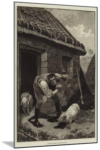 A Private Shave in County Galway-Richard Caton Woodville II-Mounted Giclee Print