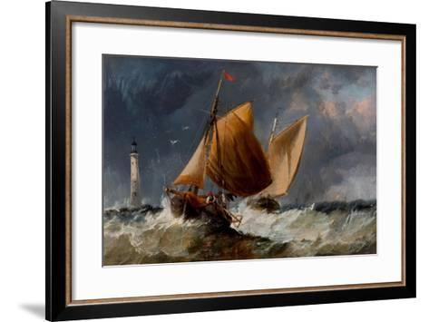 Fishing Craft Off the Eddystone Lighthouse-Richard Beavis-Framed Art Print