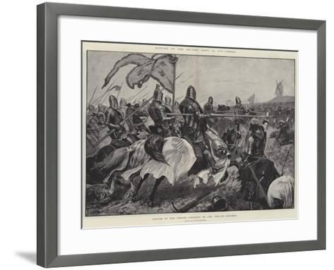 Battles of the British Army, Cressy, Charge of the French Chivalry on the English Bowmen-Richard Caton Woodville II-Framed Art Print
