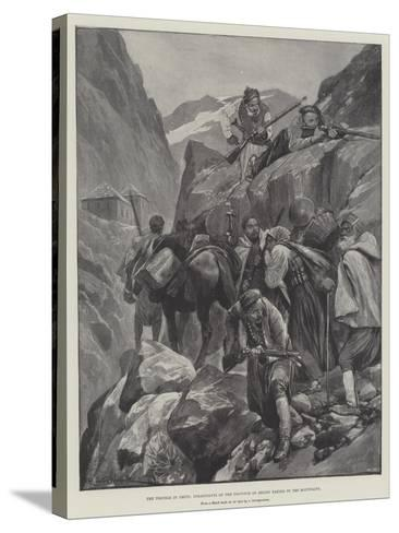 The Trouble in Crete, Inhabitants of the Province of Selino Taking to the Mountains-Richard Caton Woodville II-Stretched Canvas Print