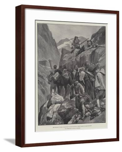 The Trouble in Crete, Inhabitants of the Province of Selino Taking to the Mountains-Richard Caton Woodville II-Framed Art Print
