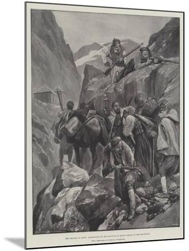 The Trouble in Crete, Inhabitants of the Province of Selino Taking to the Mountains-Richard Caton Woodville II-Mounted Giclee Print
