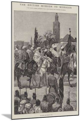 The British Mission to Morocco-Richard Caton Woodville II-Mounted Giclee Print