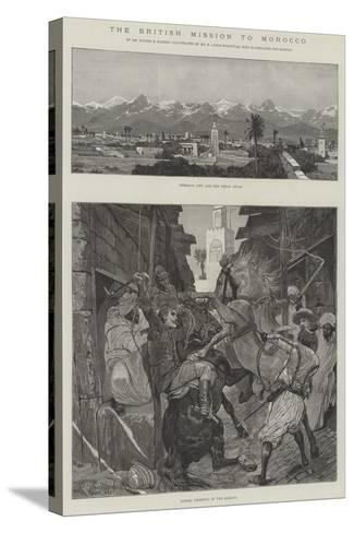 The British Mission to Morocco-Richard Caton Woodville II-Stretched Canvas Print