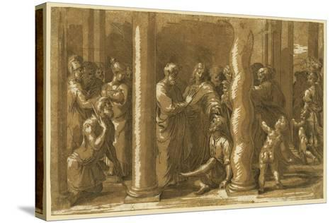 Saints Peter and John Curing the Sick-Raphael-Stretched Canvas Print