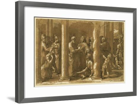 Saints Peter and John Curing the Sick-Raphael-Framed Art Print