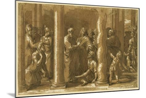 Saints Peter and John Curing the Sick-Raphael-Mounted Giclee Print