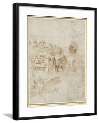 View of the City of Perugia-Raphael-Framed Art Print