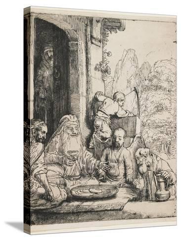 Abraham Entertaining the Angels, 1656-Rembrandt van Rijn-Stretched Canvas Print
