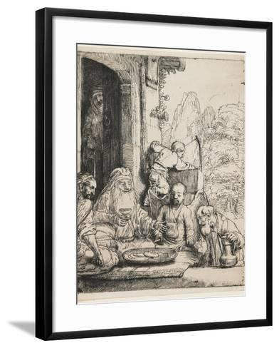 Abraham Entertaining the Angels, 1656-Rembrandt van Rijn-Framed Art Print