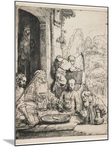 Abraham Entertaining the Angels, 1656-Rembrandt van Rijn-Mounted Giclee Print
