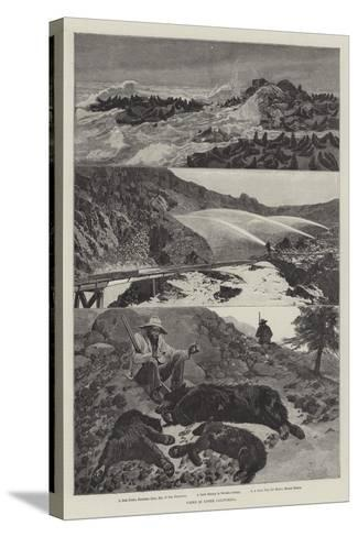 Views in Upper California-Richard Caton Woodville II-Stretched Canvas Print
