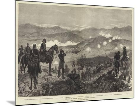 The War in Armenia, Battle of Kizil-Tepe, 25 August-Richard Caton Woodville II-Mounted Giclee Print