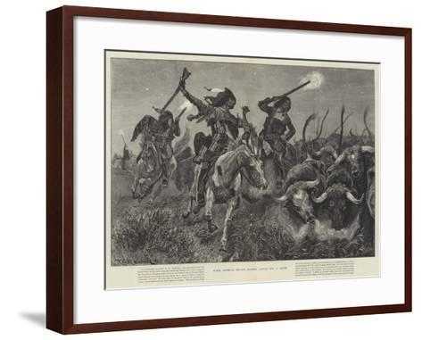North American Indians Running Cattle into a Ranch-Richard Caton Woodville II-Framed Art Print