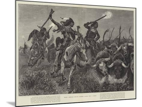 North American Indians Running Cattle into a Ranch-Richard Caton Woodville II-Mounted Giclee Print