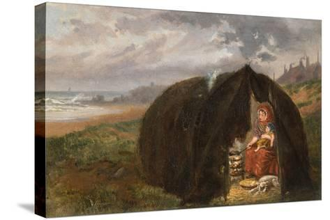 Gypsies Camped on the Beach, Near South Shields, 1876-Ralph Hedley-Stretched Canvas Print