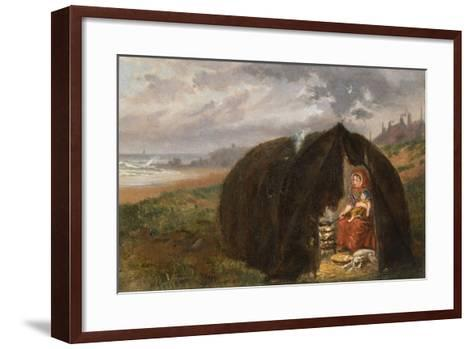Gypsies Camped on the Beach, Near South Shields, 1876-Ralph Hedley-Framed Art Print