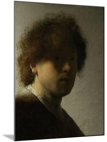Self Portrait as a Young Man, C.1628-Rembrandt van Rijn-Mounted Giclee Print