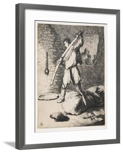 The Beheading of John the Baptist-Rembrandt van Rijn-Framed Art Print