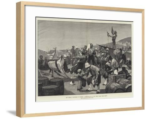 The British Occupation of Cyprus, Landing-Place on the West Coast, Near Baffo-Richard Caton Woodville II-Framed Art Print