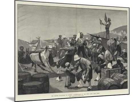 The British Occupation of Cyprus, Landing-Place on the West Coast, Near Baffo-Richard Caton Woodville II-Mounted Giclee Print