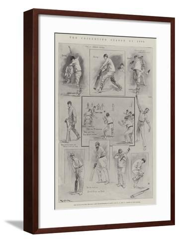 The Cricketing Season of 1901-Ralph Cleaver-Framed Art Print