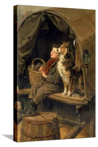 Last in Market or the Carrier's Cart-Ralph Hedley-Stretched Canvas Print