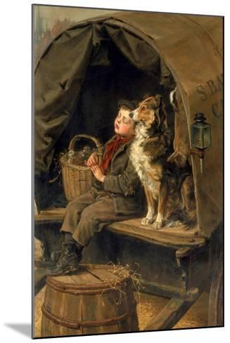 Last in Market or the Carrier's Cart-Ralph Hedley-Mounted Giclee Print