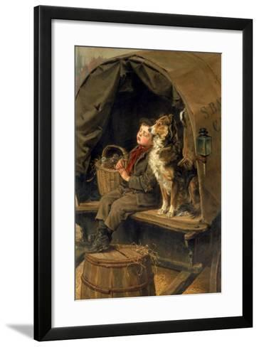 Last in Market or the Carrier's Cart-Ralph Hedley-Framed Art Print