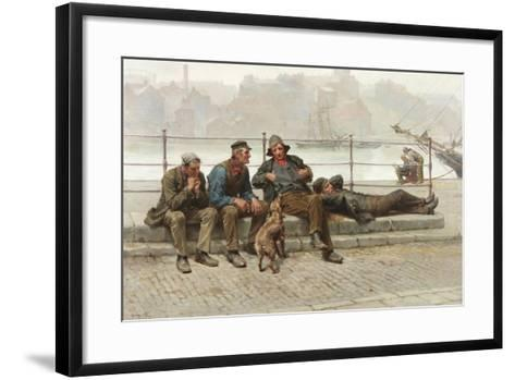 Out of Work, 1888-Ralph Hedley-Framed Art Print