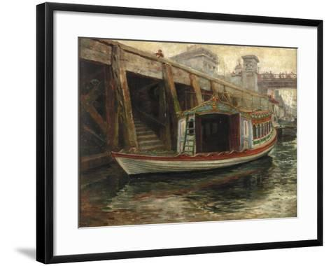 Sketch for 'The Lord Mayor's Barge', 1891-Ralph Hedley-Framed Art Print