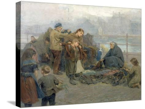 Paddy's Clothes Market, Sandgate, 1898-Ralph Hedley-Stretched Canvas Print