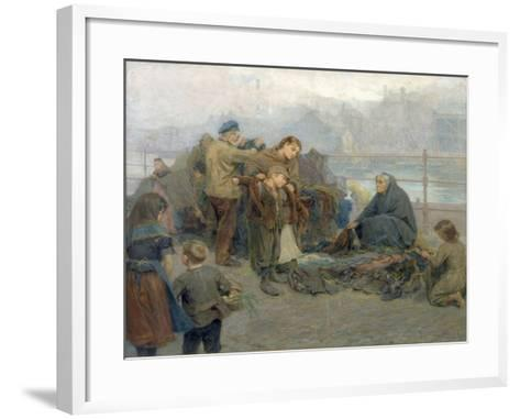 Paddy's Clothes Market, Sandgate, 1898-Ralph Hedley-Framed Art Print