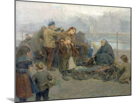 Paddy's Clothes Market, Sandgate, 1898-Ralph Hedley-Mounted Giclee Print