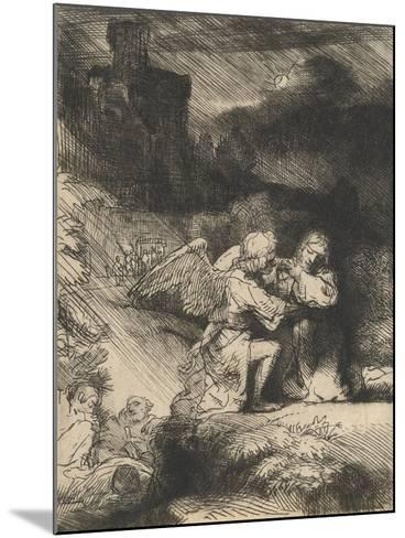 The Agony in the Garden, C.1657-Rembrandt van Rijn-Mounted Giclee Print