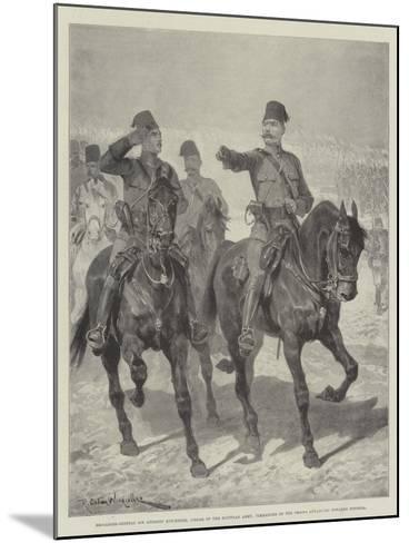 Brigadier-General Sir Herbert Kitchener-Richard Caton Woodville II-Mounted Giclee Print