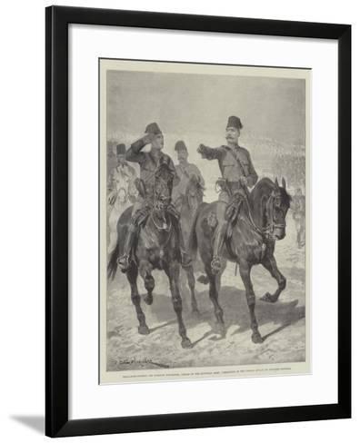 Brigadier-General Sir Herbert Kitchener-Richard Caton Woodville II-Framed Art Print