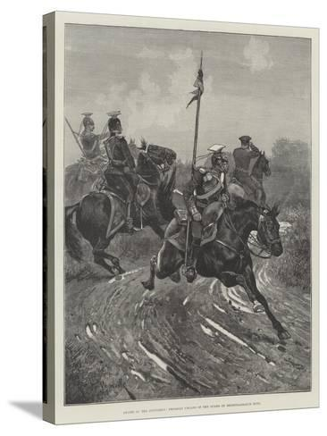 Armies of the Continent, Prussian Uhlans of the Guard on Reconnaissance Duty-Richard Caton Woodville II-Stretched Canvas Print