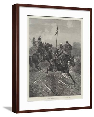 Armies of the Continent, Prussian Uhlans of the Guard on Reconnaissance Duty-Richard Caton Woodville II-Framed Art Print