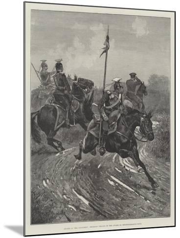 Armies of the Continent, Prussian Uhlans of the Guard on Reconnaissance Duty-Richard Caton Woodville II-Mounted Giclee Print