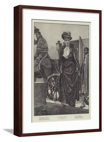 A Welcome Guest-Richard Caton Woodville II-Framed Art Print