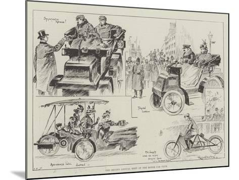 The Second Annual Meet of the Motor Car Club-Ralph Cleaver-Mounted Giclee Print