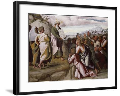 Moses Presenting the Ten Commandments-Raphael-Framed Art Print