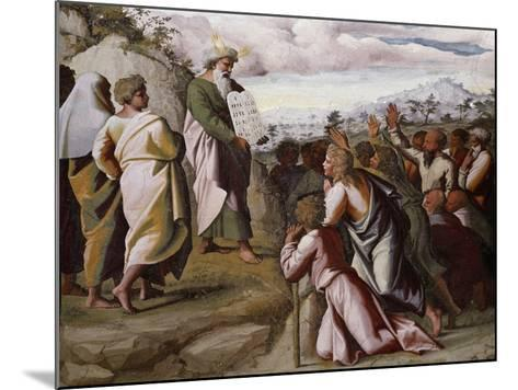Moses Presenting the Ten Commandments-Raphael-Mounted Giclee Print
