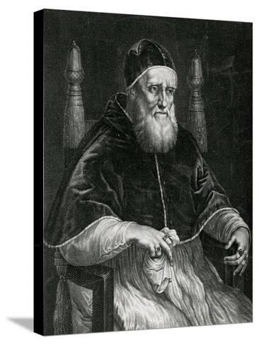 Pope Julius II (1443-1513)-Raphael-Stretched Canvas Print
