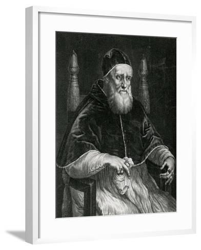 Pope Julius II (1443-1513)-Raphael-Framed Art Print